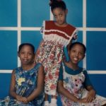 Paige with twin sisters Rianna and Anika as children